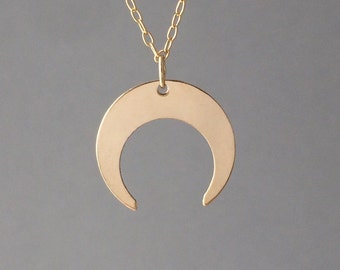 GOLD FILL Double Horn Necklace also available in silver