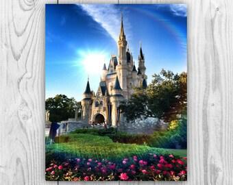 Walt Disney World Magic Kingdom. Cinderella Castle. Wall Art Photograph - 8x10