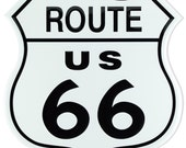 Vintage Route 66 Tin Sign (0009999ART37A)