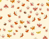 Tiger Lily - Butterflies in Cream - Heather Ross for Windham Fabrics - 40933-5 - 1/2 yard