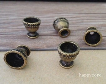 10pcs  antique Bronze cup Charms pendant 13mm