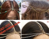 Head Chain Jewelry (Pick any 1 for 9.98) Headband Headpiece Gold Metal Hair Band Jewelry - SALE
