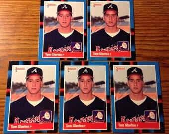 Tom Glavine (5) 1988 ROOKIE Cards Atlanta Braves Vintage Baseball LOT HOF Nice