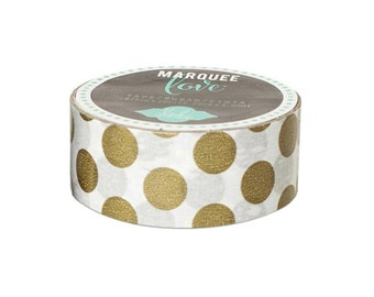 Gold Polka Dot Tape by Heidi Swapp Marquee Love 12 Feet by 7/8 Inches