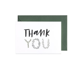 Botanic Thank You Greeting Card