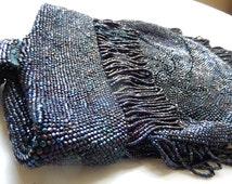 Vintage Beaded Purse - Midnight Blue Purse - Antique Beaded Purse - Ladies Beaded Bag - Micro Beaded Evening Bag - Beaded Glass Purse