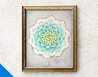 Lotus ART PRINT, Peaceful art, Inspirational art, Yoga studio decor, Meditation wall art, Meditation decor, Lotus wall art, Mindfulness gift