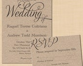 Simply Elegant Text-Editable Invitation and RSVP Package - Instant Download