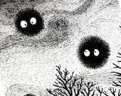 Kuro Soot Gremlins - Illustration by: Taren S. Black