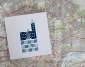 Micro Norwich City Hall Greetings Card