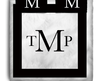 Custom Personalized Black Block font Bedding