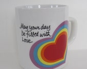 Vintage Avon Coffee Mug - May your day be filled with love