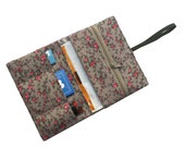 Tobacco pouch, smoke pouch wild roses