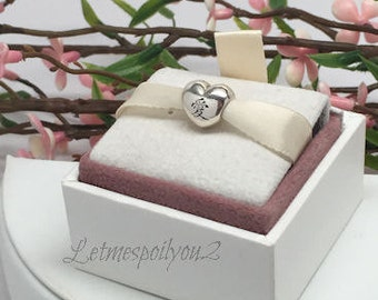 Authentic Pandora Chinese Love Symbol Puffy Ai Heart Charm Bead For Bracelet