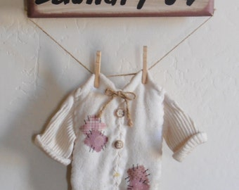 Vintage Laundry Wall Hanging