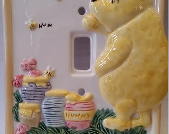 Winnie the Pooh Light Switch Plate Cover, Winnie the Pooh Light Switchplate Cover