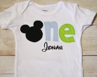 Baby Mickey Mouse Birthday Shirt / Mickey Mouse 1st Birthday Shirt / Baby Mickey 1st Birthday Shirt / Mickey ONE Shirt / Disney 1st Birthday