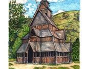 Catan Chapel Fine Art Print, Home Decor, Wall Art