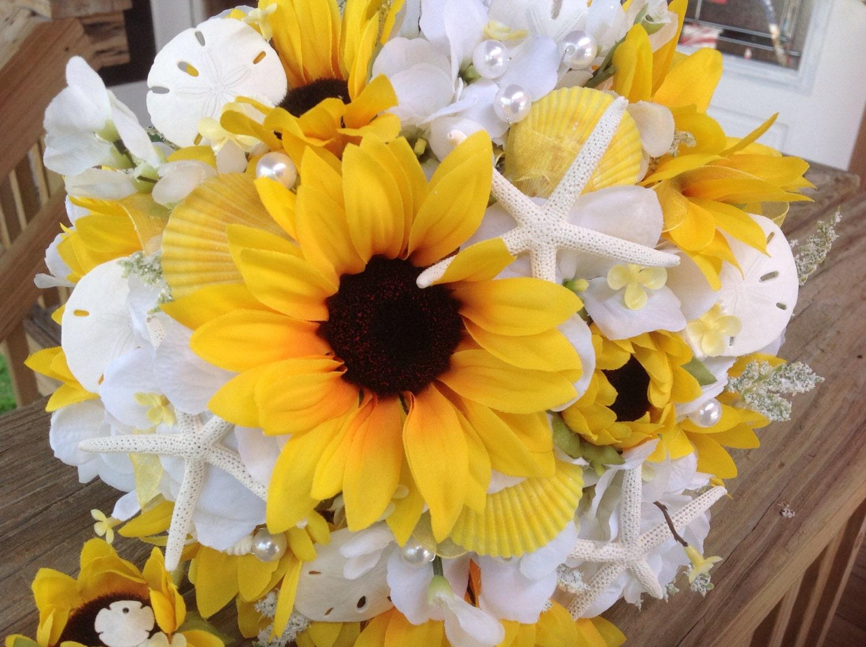 Hydrangea And Sunflower Bouquet