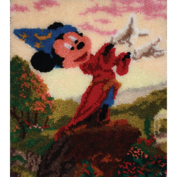 Mickey Mouse Fantasia Latch Hook Rug