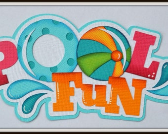 Premade Scrapbook Title Pool Fun for Premade Scrapbook Pages Layouts Elite4u Summer Swimming