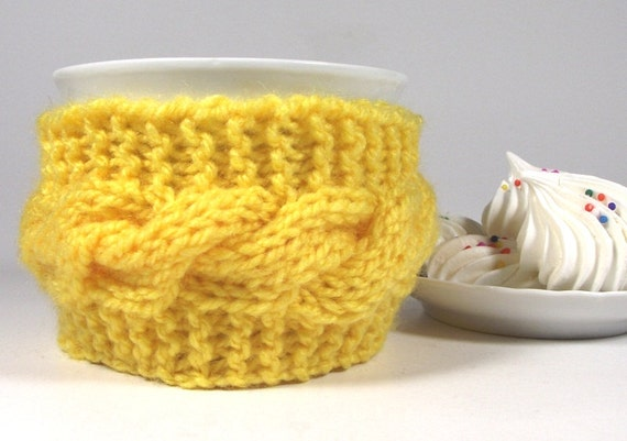 KNITTING PATTERN Cozy Coffee Lazy Morning Cup Knit Mug Cozy