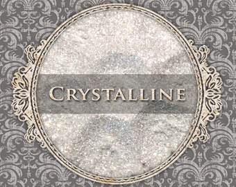 CRYSTALLINE Sparkle Eyeshadow: Samples or Jars, Translucent White Sparkle, Loose Powder Eyeshadow, Vegan Cosmetics, Ships Out in 4-7 Days