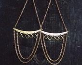 Large Brass Chandelier Shoulder Dusters