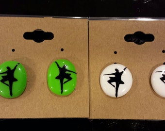 Earrings With Dance Decals