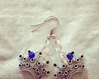 Royal queen crown earrings