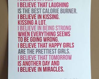 I Believe in Pink Audrey Hepburn