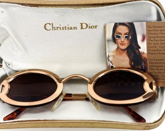 Vintage CHRISTIAN DIOR Limited Edition Carla Bruni Gold Sunglasses