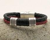 EXPRESS SHIPPING Men's Bracelet  - Men's Jevelry Bracelet - Men's Leather Bracelet - Men's Jewelry - Bracelets For Men - Gift for Him