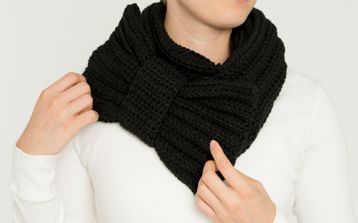 Black Infinity Scarves Women - Erieairfair