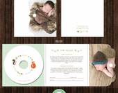 Instant Download CD/DVD Label and Luxe Cover with Print Release and Alternate Inside - Psd Template - D31