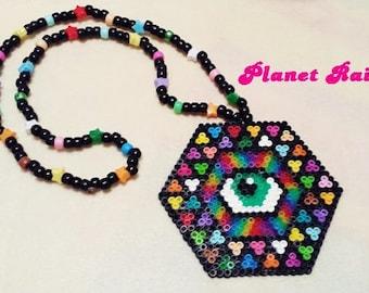 Large Third Eye Perler Kandi Necklace