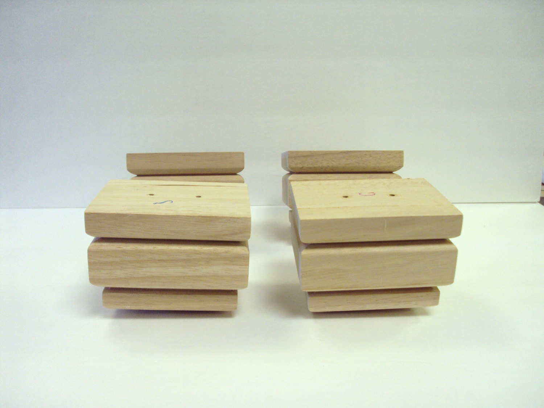 Sale Rectangle Wood Furniture Feet 3 Level Set Of 4