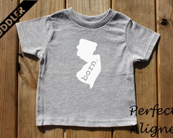 New Jersey Home State BORN Unisex Toddler T-shirt - Baby Boys or Girls