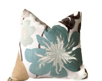Floral Pillow,Kravet Pillow,Throw Pillows, Decorative Pillow Cover, Green,Pillow, Lumbar Pillow 16x16, 18x18. 20x20, 22x22