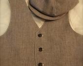 Boys vest, Cafe brown tan boys VEST, tan vest wedding vest for boys, ring bearer vest, photo prop for boys
