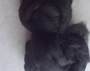 Dark Brown/Black Shetland Roving 8 oz