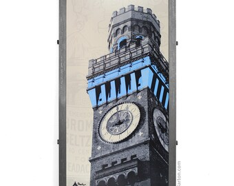 Bromo-Seltzer Tower,  Framed Silkscreen Print, Baltimore, MD