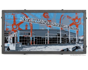 Baltimore Museum of Industry Framed Silkscreen Print, MD