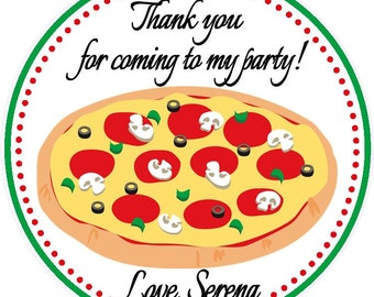 Pizza Party Favor Tags - Pizza Birthday Party Favors - Pizza Party - Set of 12