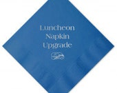 "Luncheon Napkin (6.5"" Square) Upgrade (Select Design from Current Listings)"