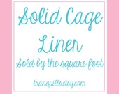 Solid Fleece Cage Liner - Sold by Square Foot