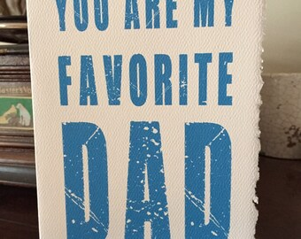 you are my favorite dad [ fathers day cards ]