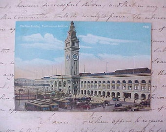 Lovely Edwardian Era San Francisco Postcard-The Ferry Building