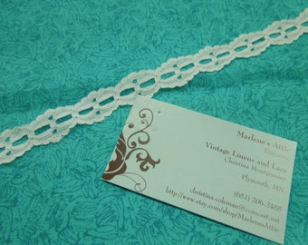 1 yard of 3/4 inch White galloon chantilly lace trim for bridal, garter, wedding supplies, couture by MarlenesAttic - Item 4E