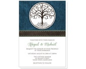 Tree of Life Wedding Invitations and RSVP - Rustic Tree of Life and Denim - Printed Invitations